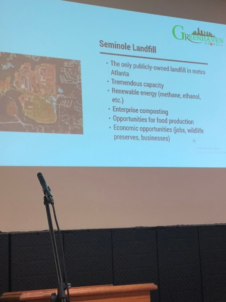 Greenhaven Economic Plan using garbage from Seminole Landfill in DeKalb County