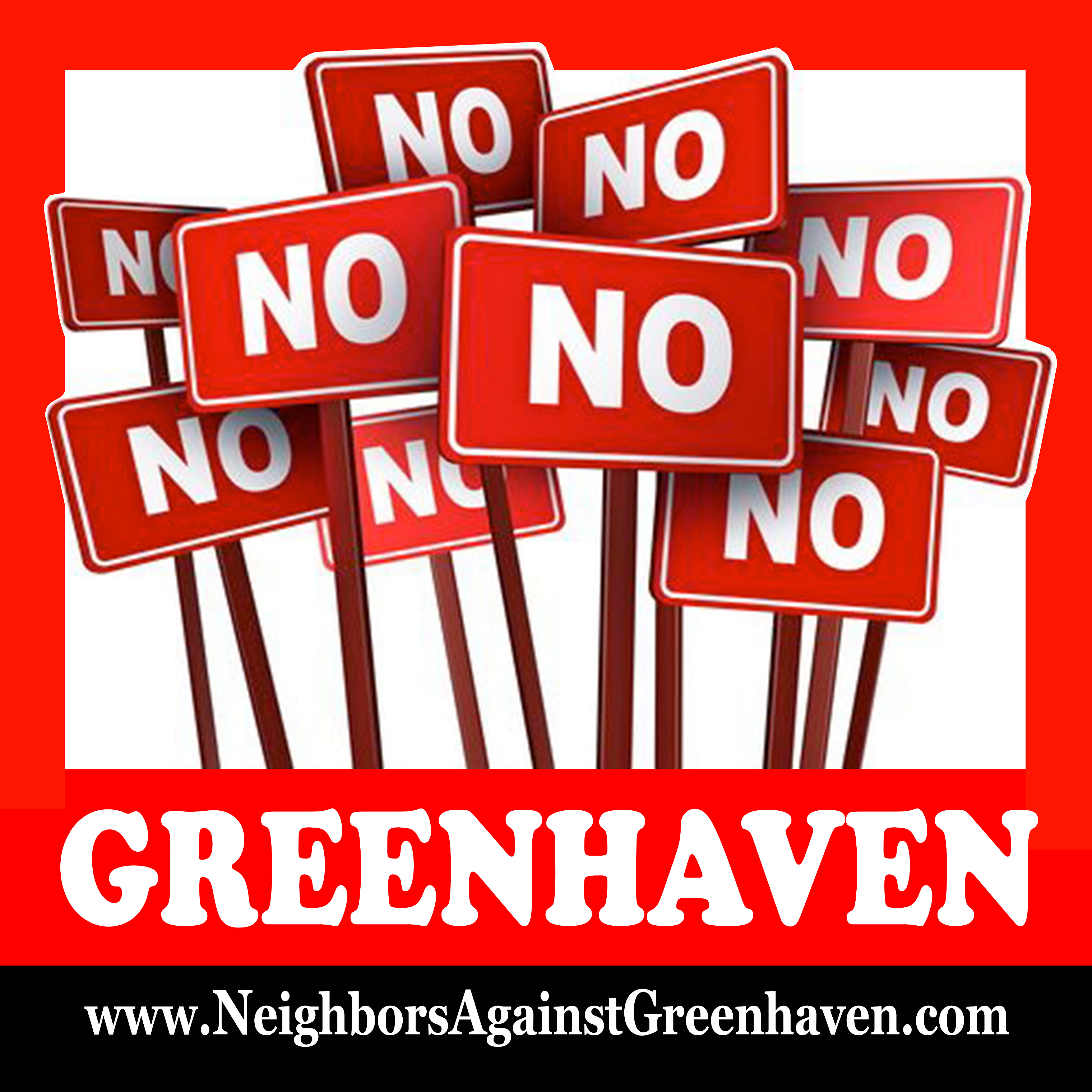 Neighbors Against Greenhaven Yard Sign