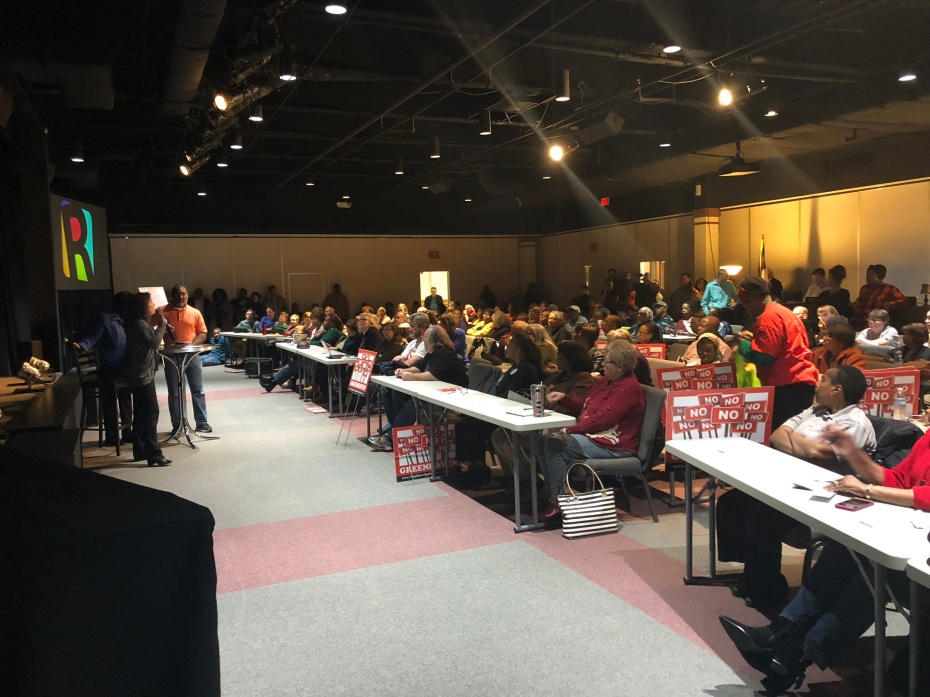 Neighbors Against Greenhaven, Citizens in Opposition to Greenhaven and DeKalb Strong February 26, 2019 Meeting at Rehoboth Church
