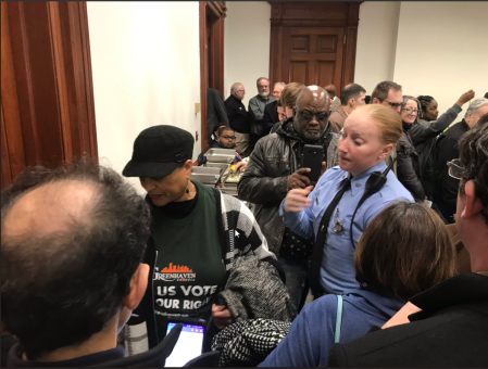 Greenhaven Kathryn Rice gets removed from Georgia State Capitol by Police. If Kathryn doesn't know how to act in public how can she run a country.