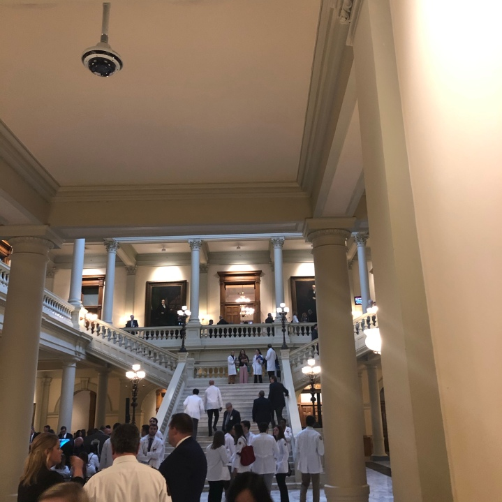 Interior of Georgia State Capitol DeKalb Delegation Meeting February 4, 2020. Neighbors Against Greenhaven and Concerned Citizens in Opposition to Greenhaven are in attendance.