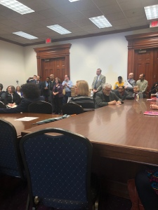 Georgia State Capitol DeKalb Delegation Meeting February 4, 2020. Neighbors Against Greenhaven and Concerned Citizens in Opposition to Greenhaven are in attendance.